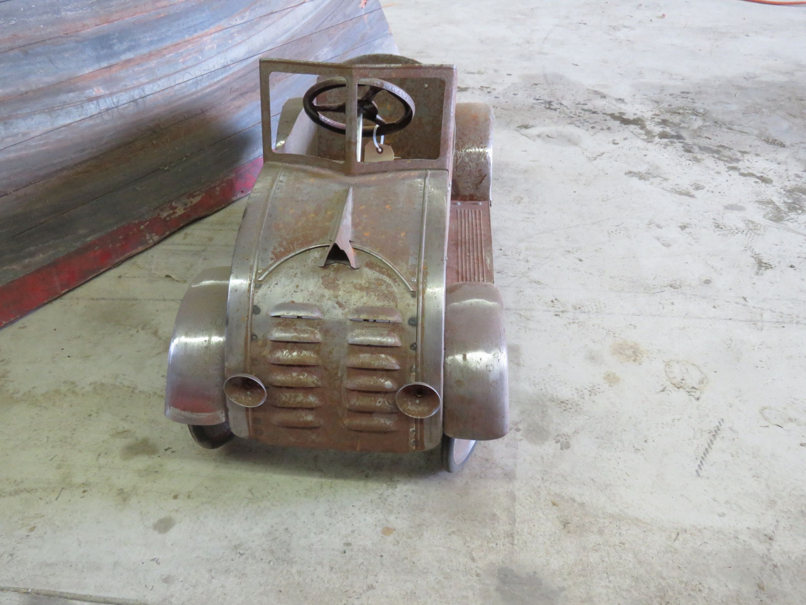 Ornate 1930's Garton DeSoto Airflow Pedal Car for Restore - Image 2