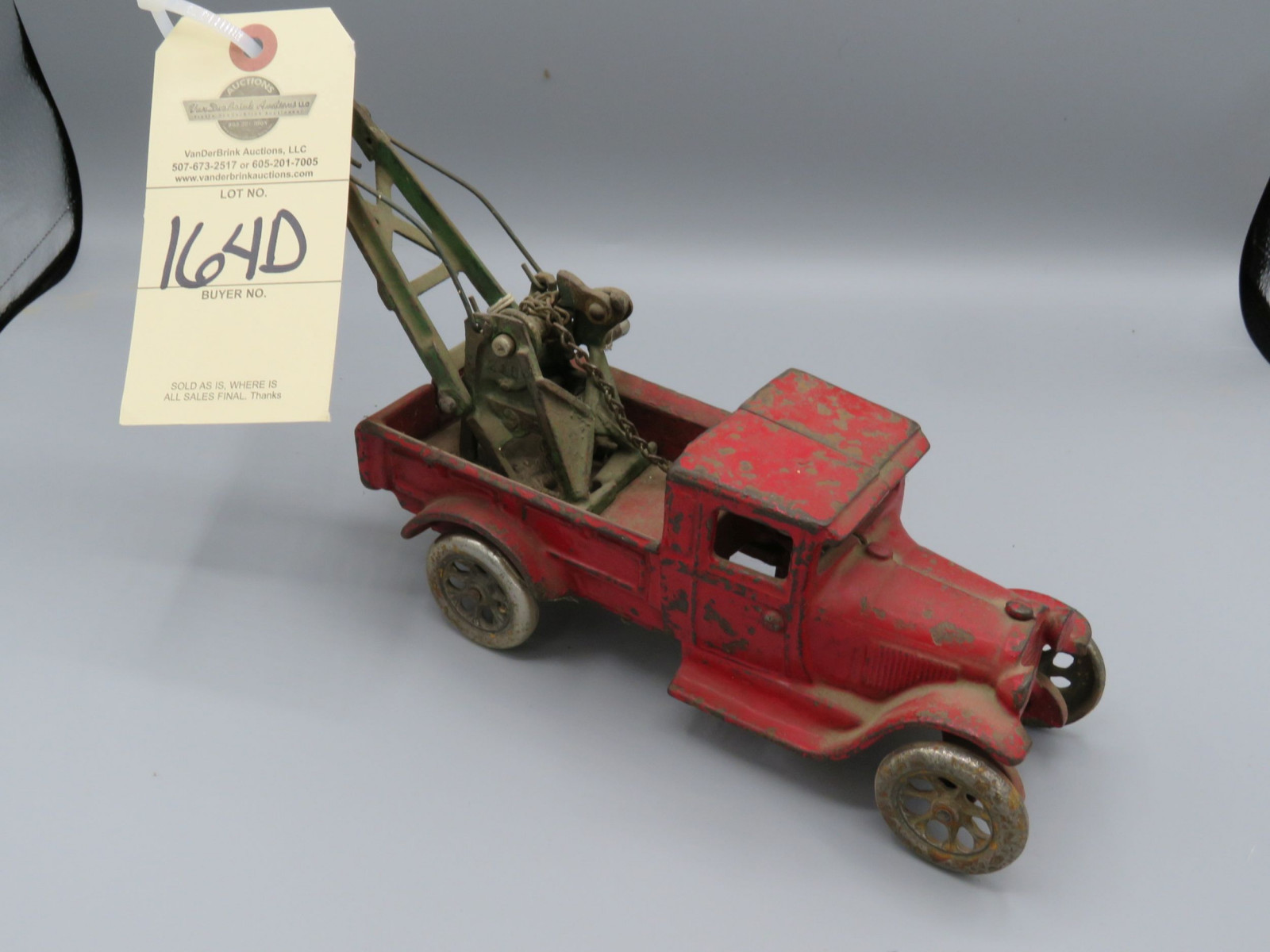 Cast Iron Tow Truck @1929 Approx. 8 inches - Image 1