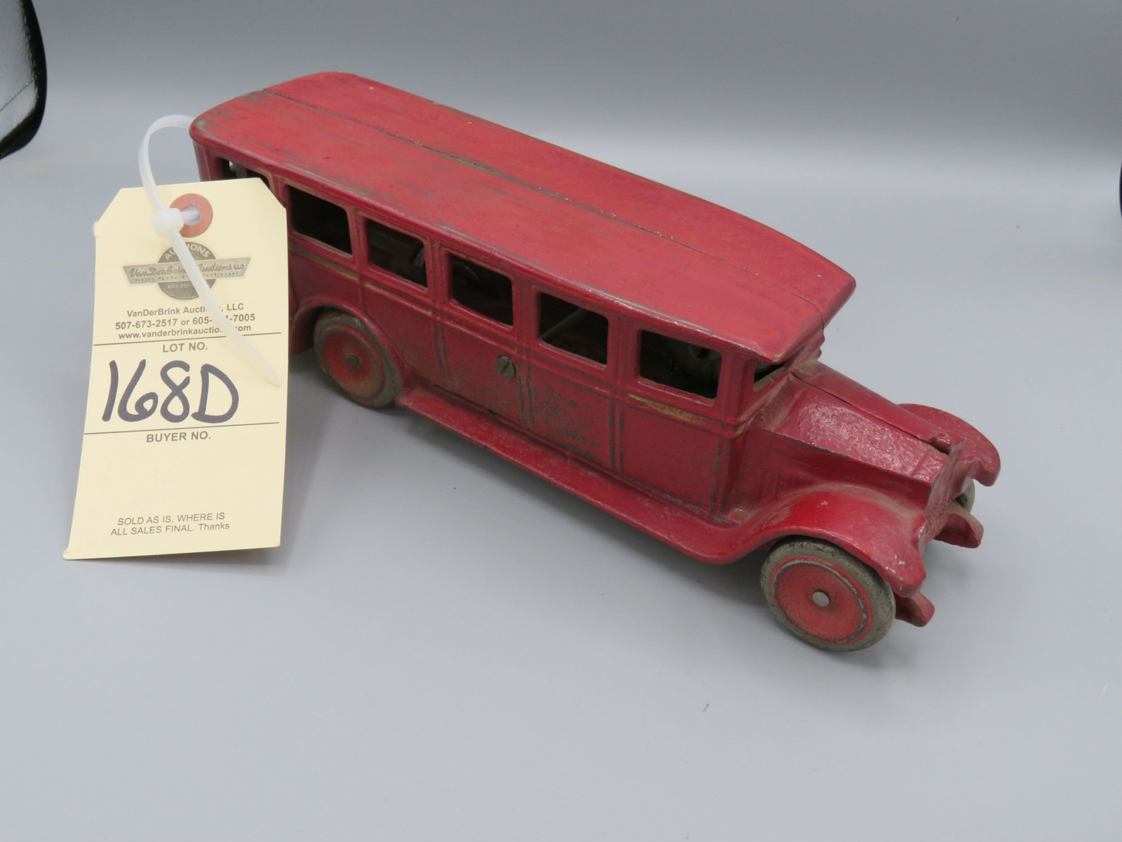 Vintage Cast Iron Bus Approx. 10 inches  Seto - Image 1