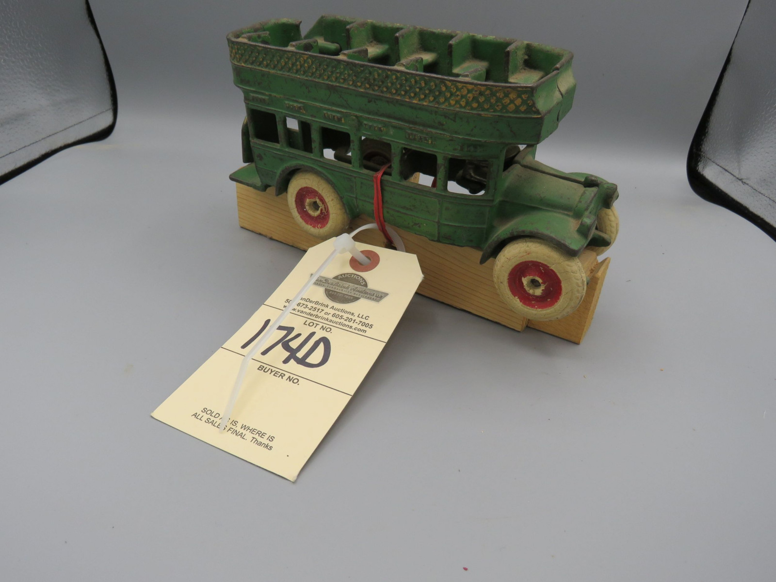 Arcade Cast Iron double Decker Bus @1939 Approx. 8 inches - Image 1