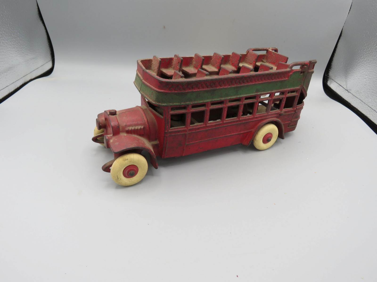 Arcade Double Decker Bus Cast Iron Approx. 10 inches - Image 2