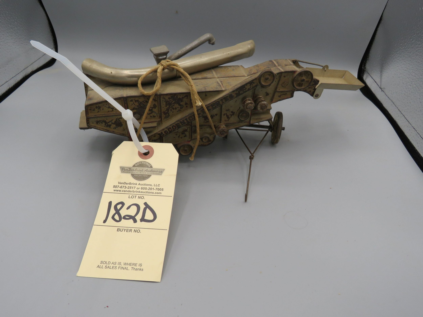 Arcade Cast Iron McCormick Threshing Machine @1927 Approx. 12 inches - Image 1