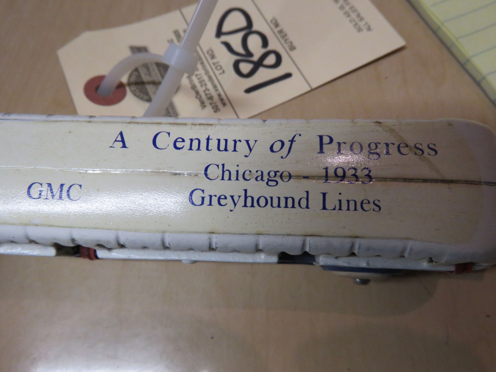 Arcade Cast Iron 1933 Chicago Worlds Fair Greyhound Touring Bus - Image 3