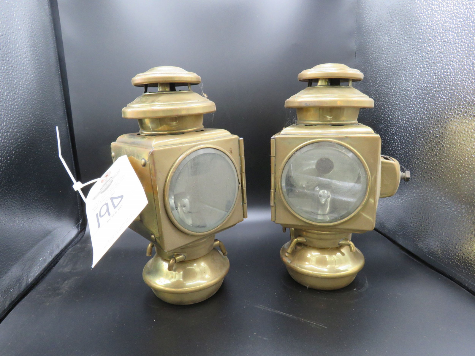 Pair of Side Brass Side Lights - Image 3