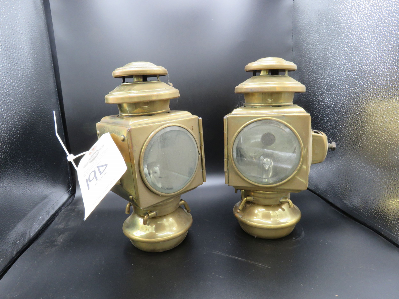 Pair of Side Brass Side Lights - Image 1