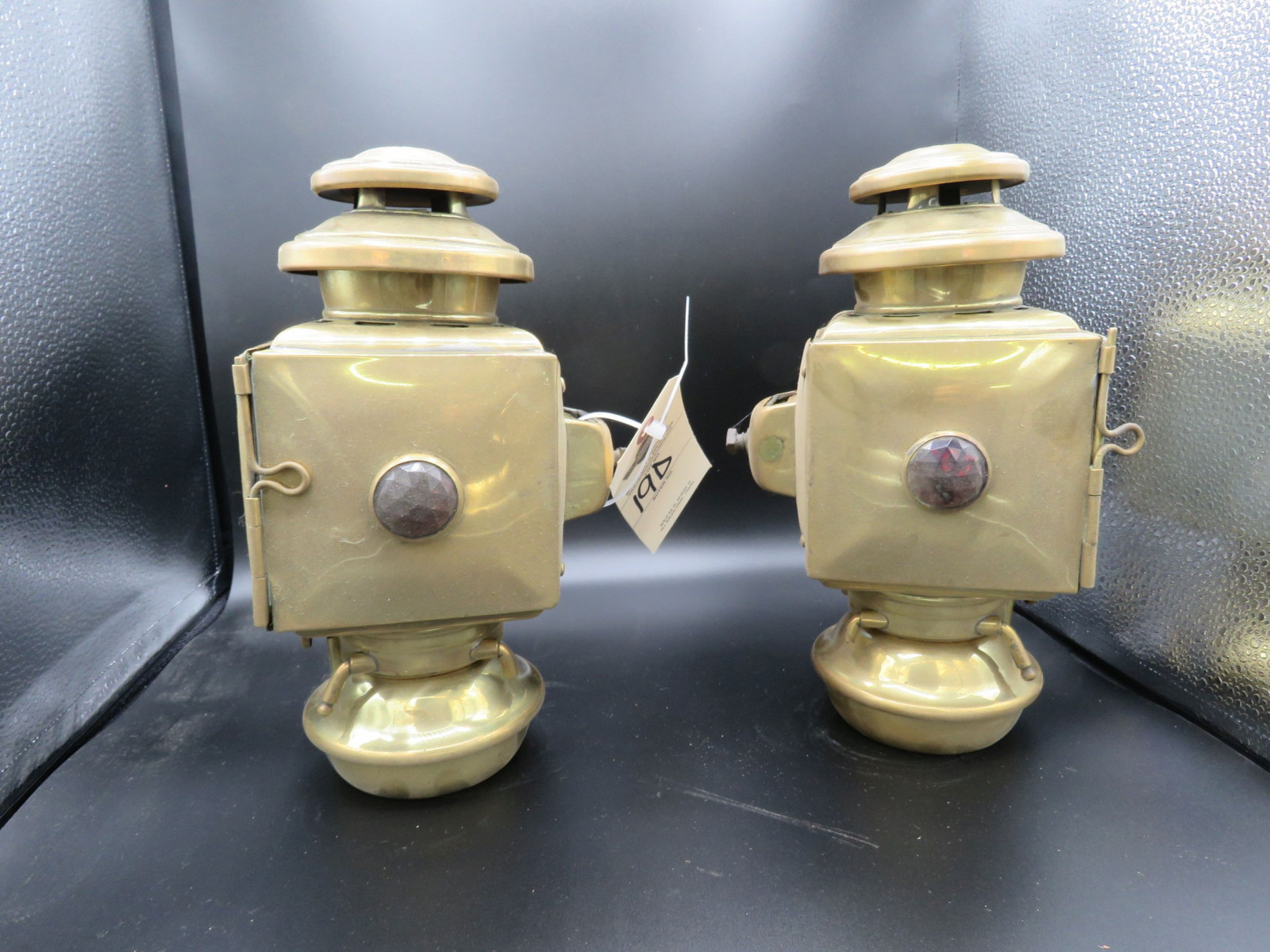 Pair of Side Brass Side Lights - Image 2