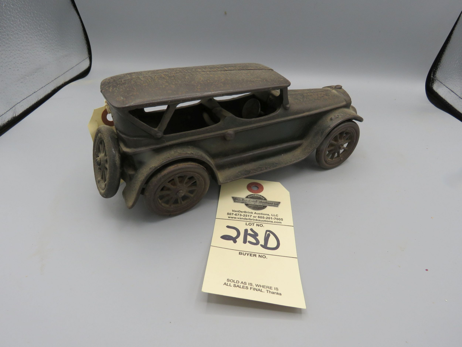 Vintage Arcade Cast Iron Touring Car - Image 1