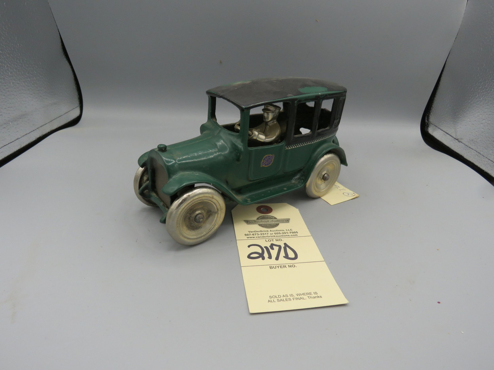 Checker Cab @1923 Approx.. 9inches Rubber wheels - Image 1