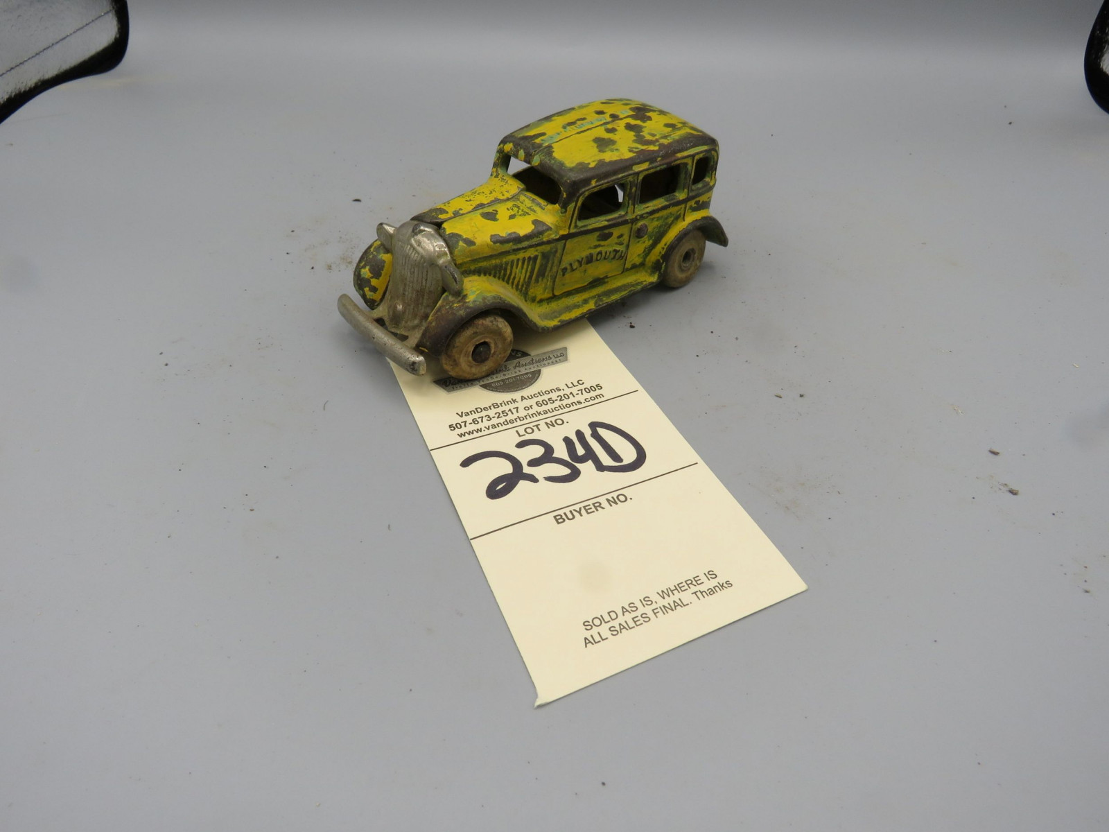 Vintage cast Iron Plymouth Sedan - Image 1