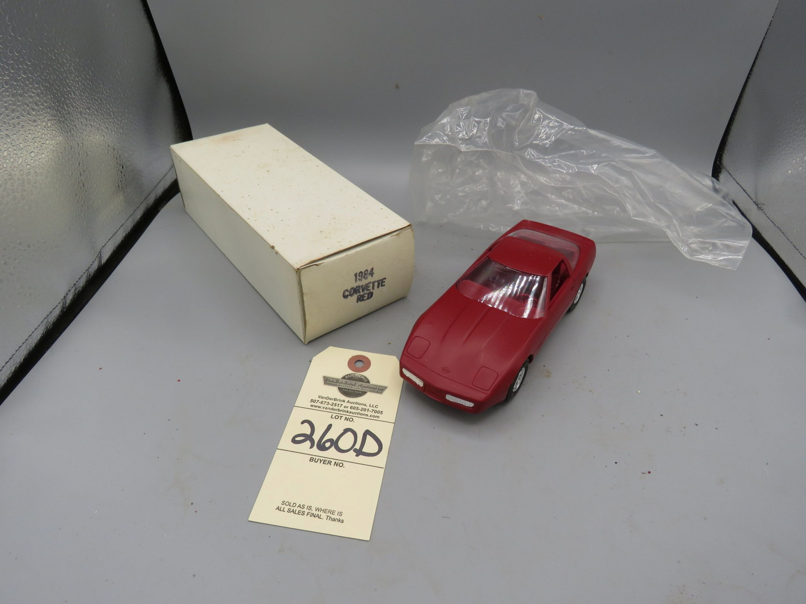 1984 Chevrolet Corvette Promotional Model NIB Plastic - Image 1