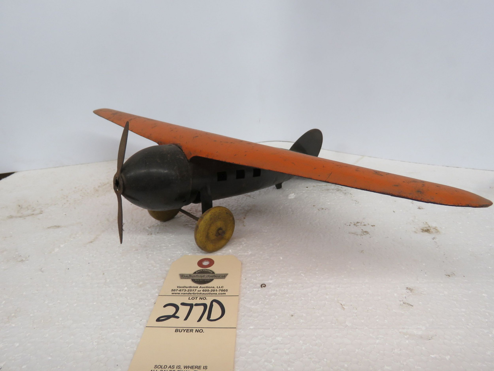 Vintage Die Cast Airplane - Image 1