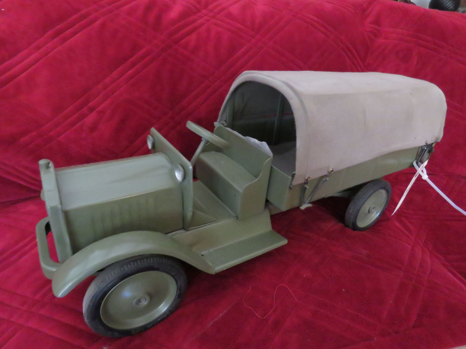 Buddy L Troop Carrier Truck - Large Pressed Tin - Image 1