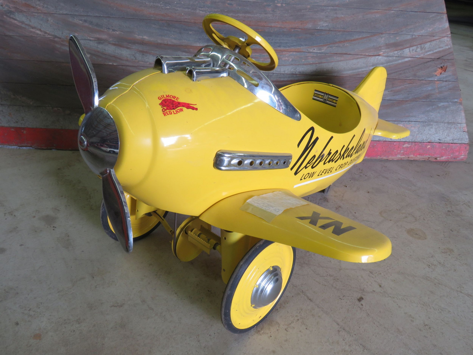 Reproduction Airplane Pedal Car - Image 1