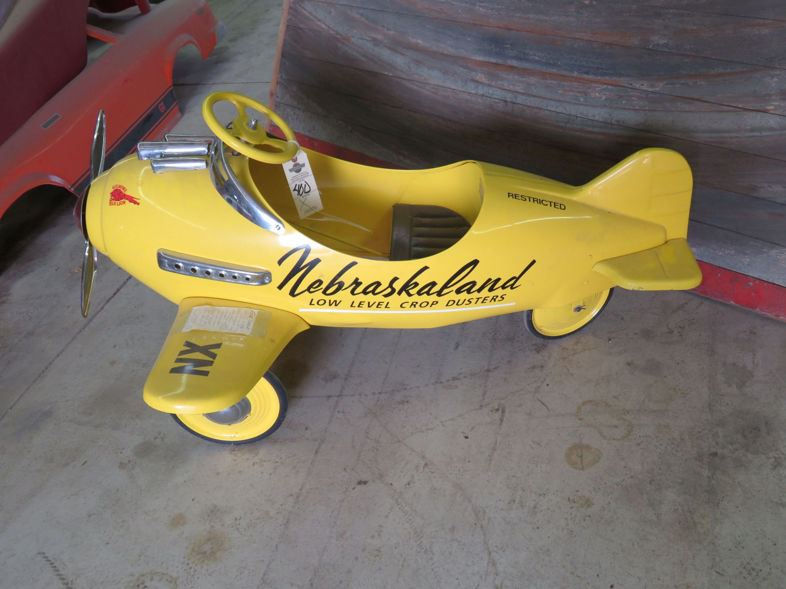 Reproduction Airplane Pedal Car - Image 5