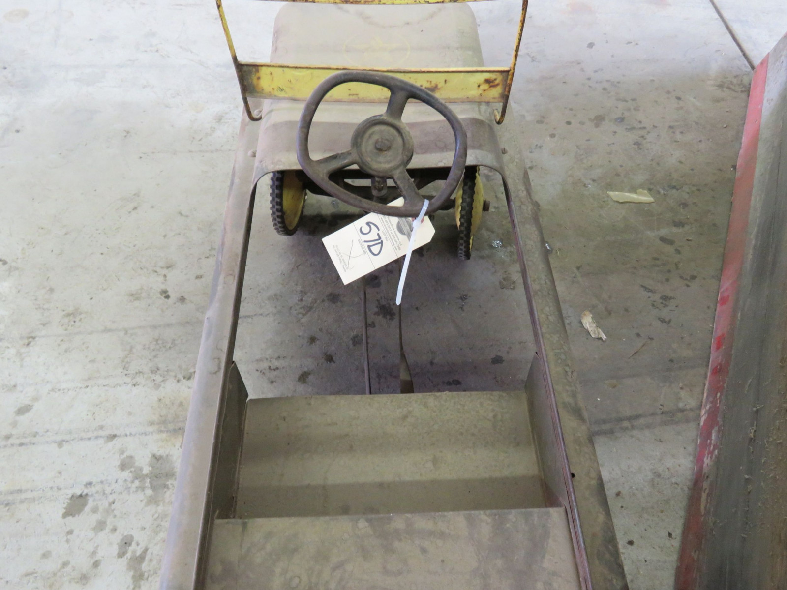Vintage Garton Military Jeep Pedal Car for restore - Image 5