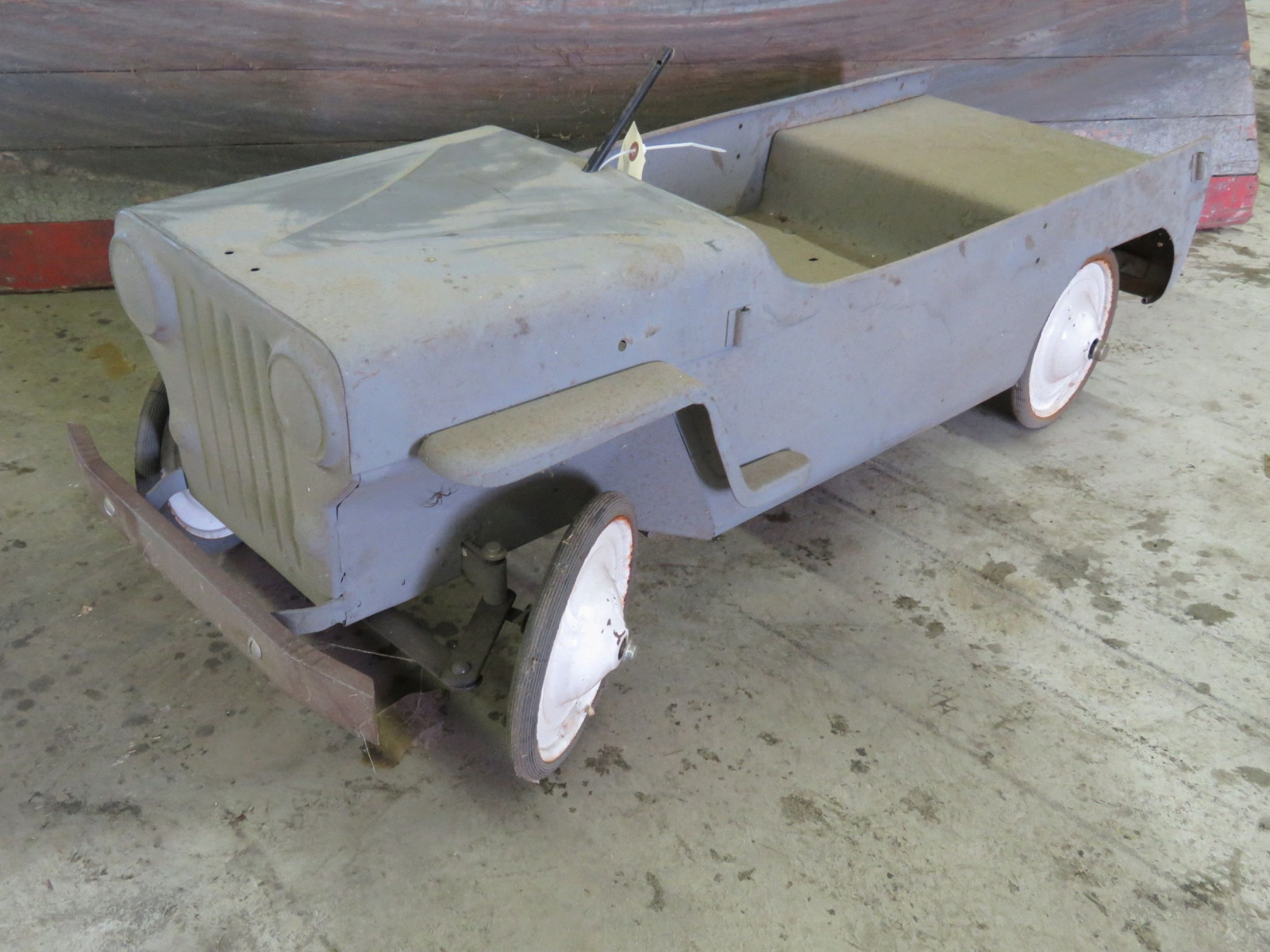 Vintage Garton Military Willys Jeep Pedal Car for restore - Image 1
