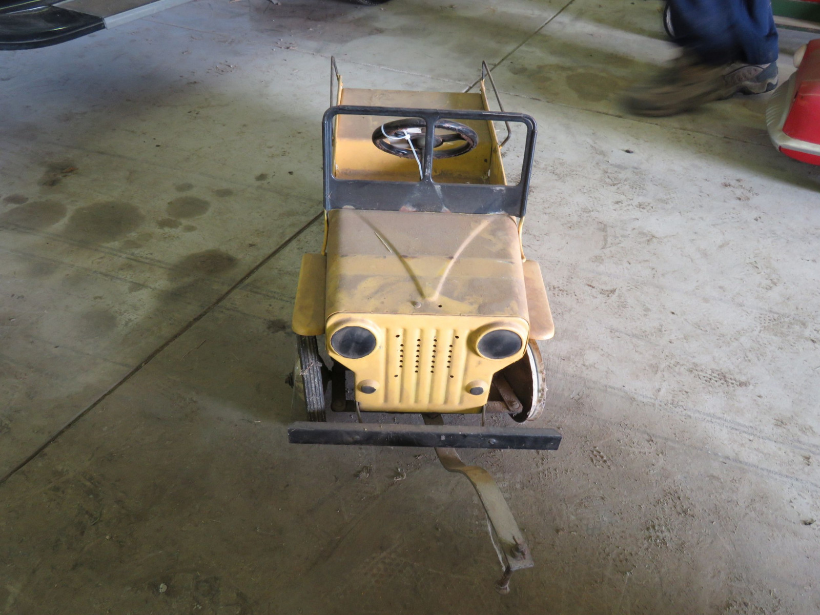 Vintage Murray #802 Highway Patrol Jeep Pedal Car - Image 2