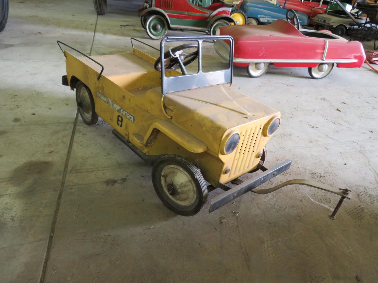Vintage Murray #802 Highway Patrol Jeep Pedal Car - Image 3