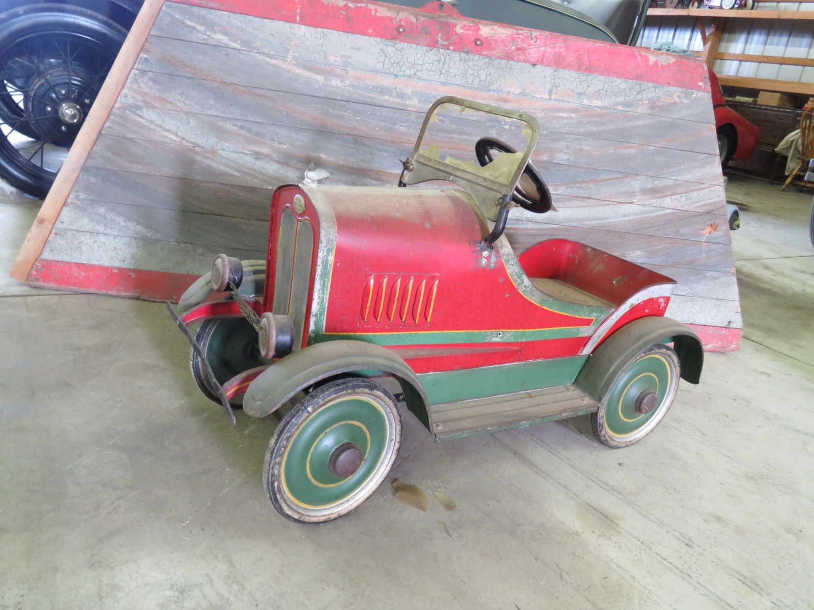Vintage Steel craft 1929  Auburn Pedal Car - Image 2