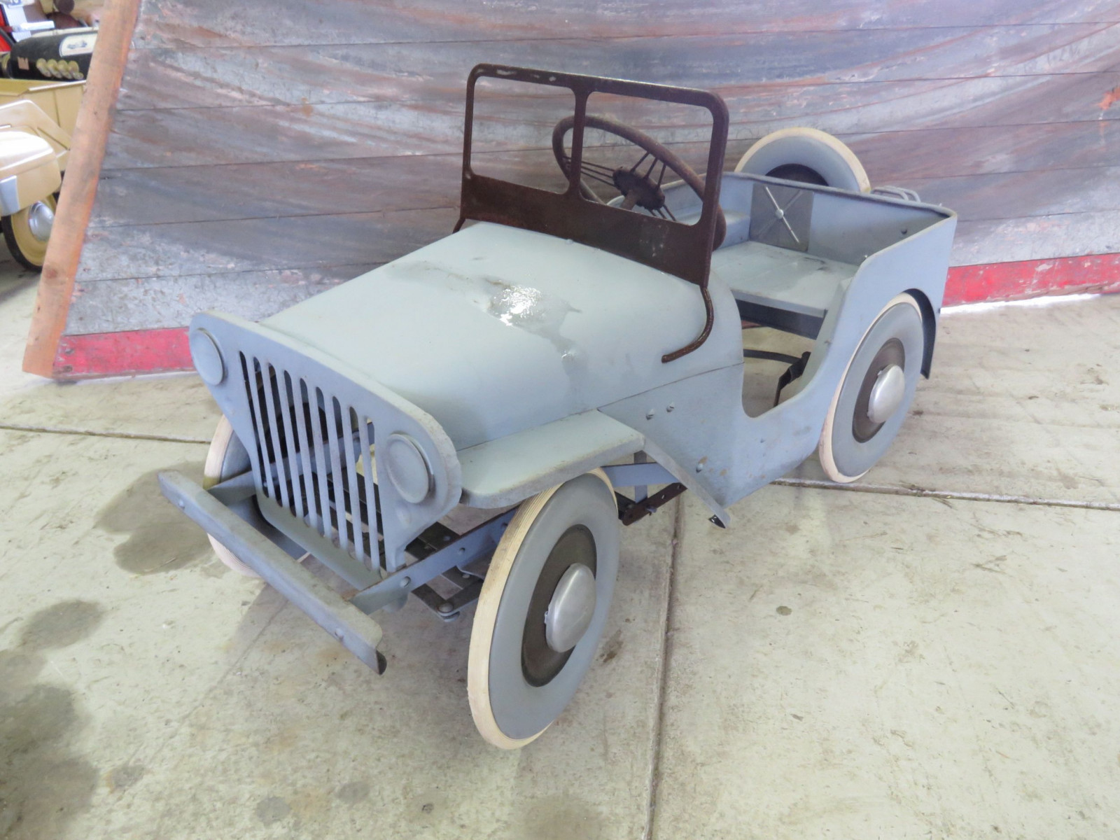 Vintage Garton Military Willys Jeep Pedal Car - Image 1
