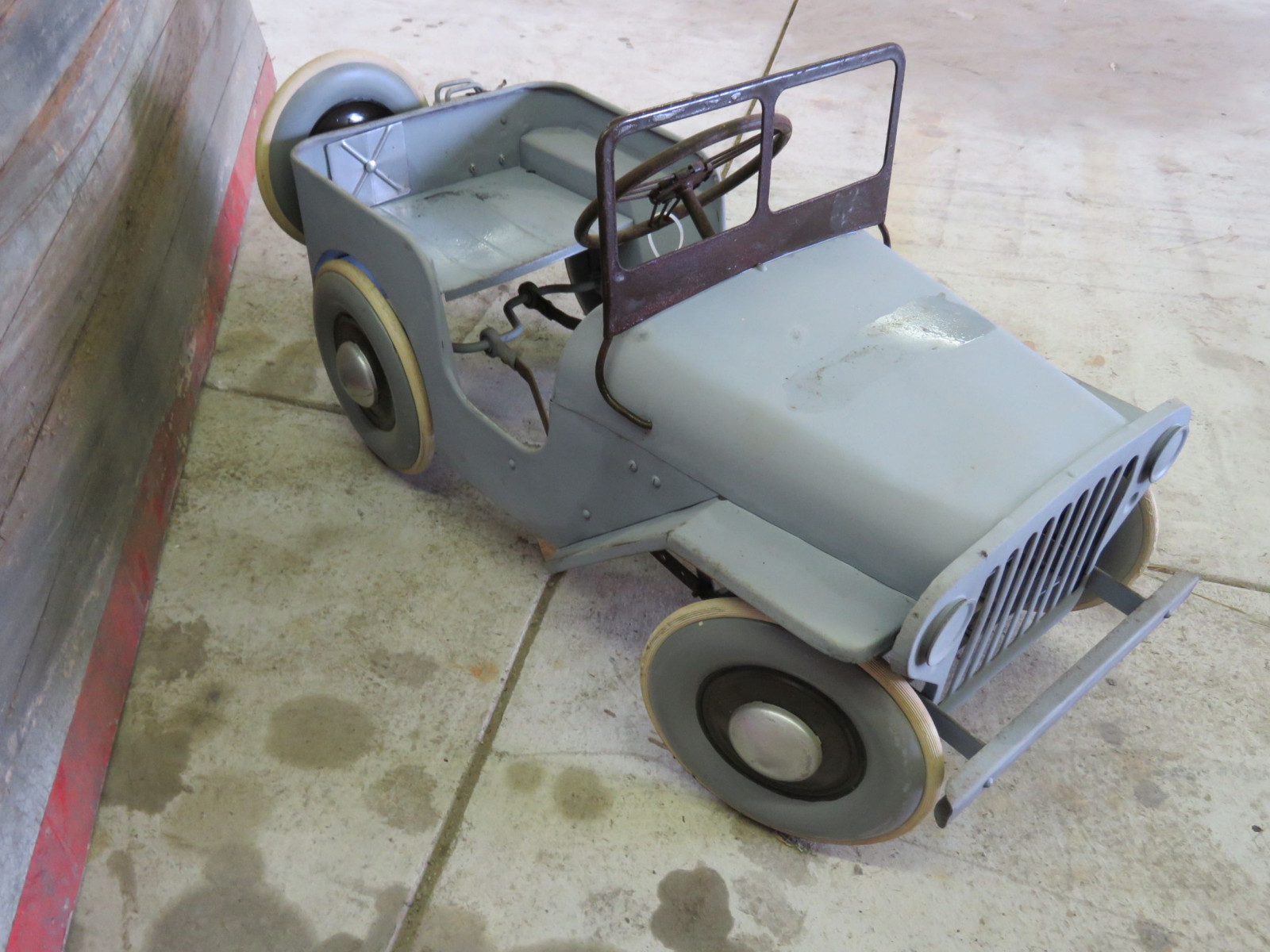 Vintage Garton Military Willys Jeep Pedal Car - Image 3