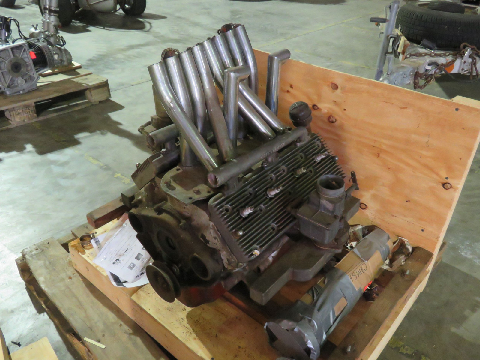 Reverse Flathead V8  60hp Motor with Offenhauser Heads for Midget Race Car Exhaust AND Intakes switched - Image 3