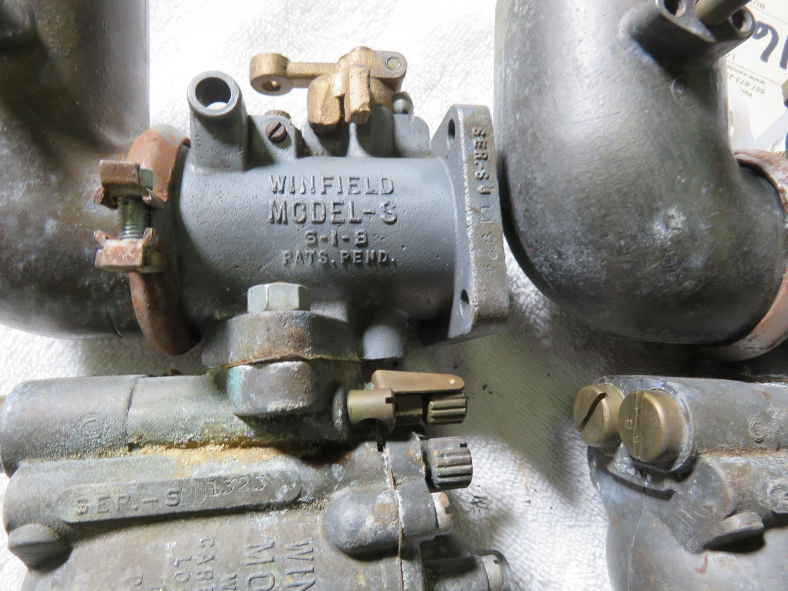 Rare Winfield Model S Carburetors - Image 2