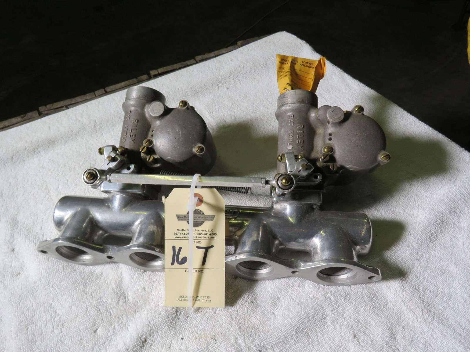 Rare Riley Intake with Riley Dual Carbs for Speed Equipment - Image 1