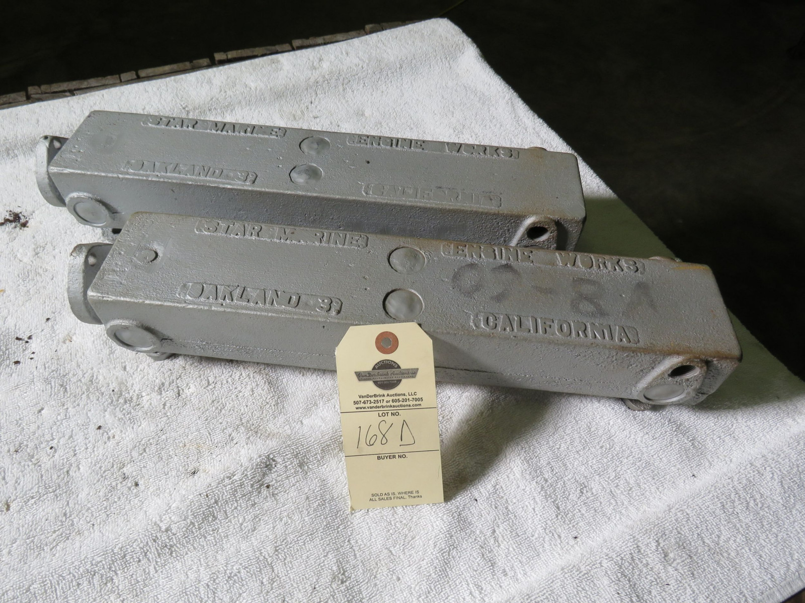 Pair of Star Maine Aluminum Manifolds Ford Flathead V8 - Image 1
