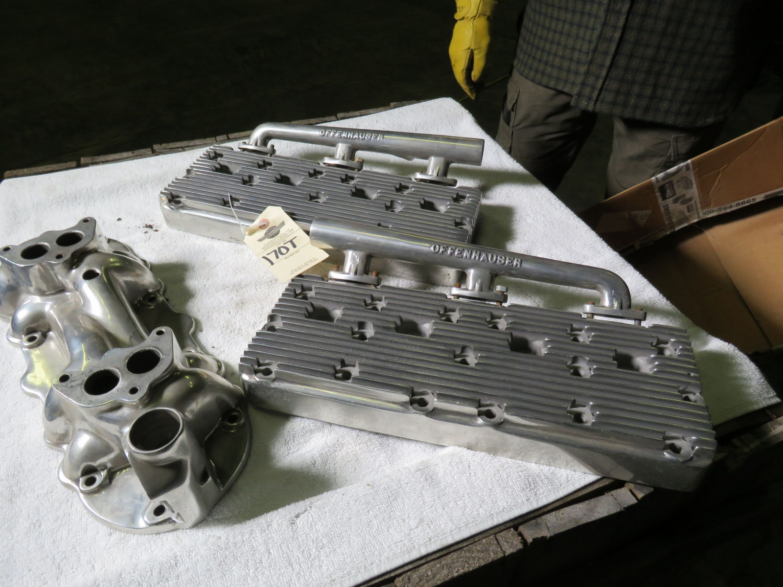 Offenhauser Aluminum Heads and Intake - Image 1