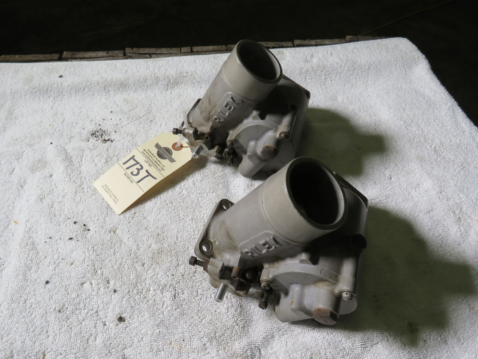 Rare Pair of Riley Carburetors - Image 1