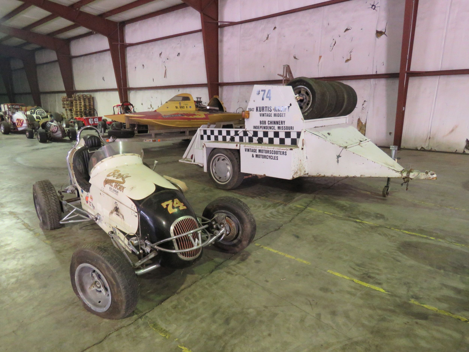 Rare 1947 Kurtis Kraft-Chimnery Midget Racecar and Trailer - Image 1