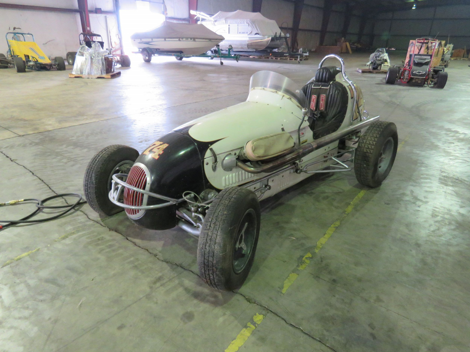 Rare 1947 Kurtis Kraft-Chimnery Midget Racecar and Trailer - Image 2