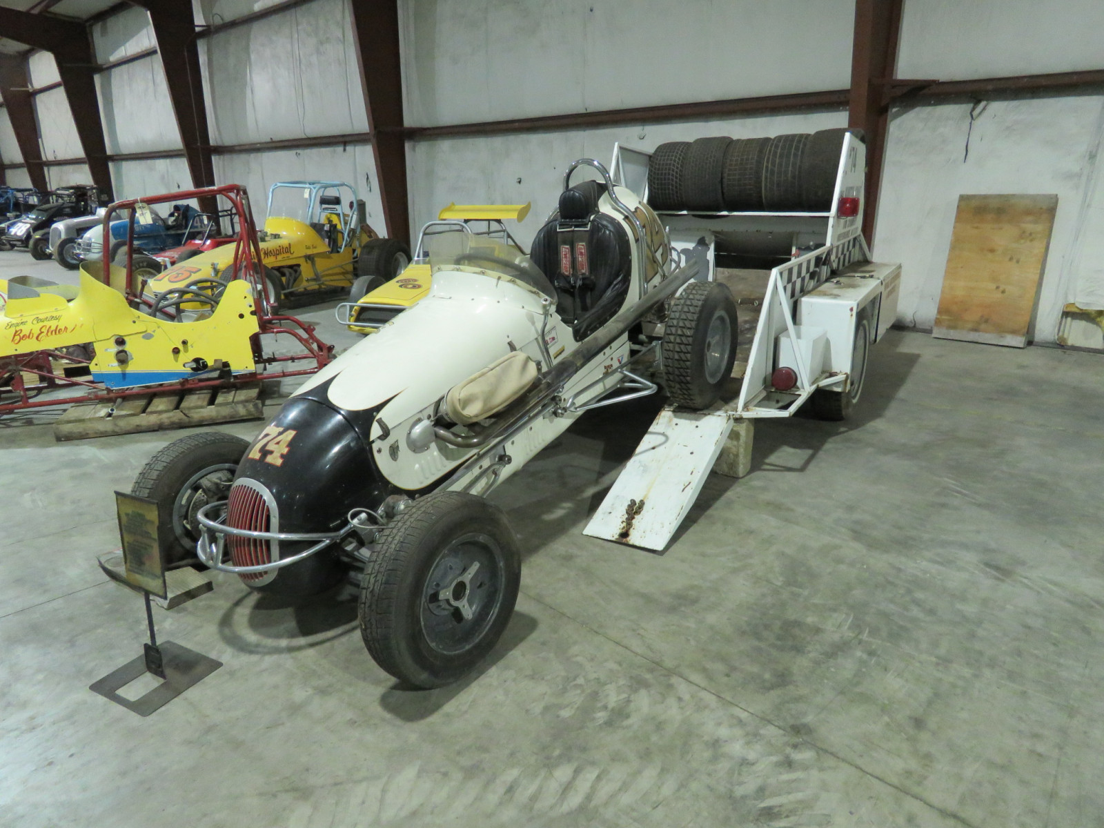 Rare 1947 Kurtis Kraft-Chimnery Midget Racecar and Trailer - Image 21