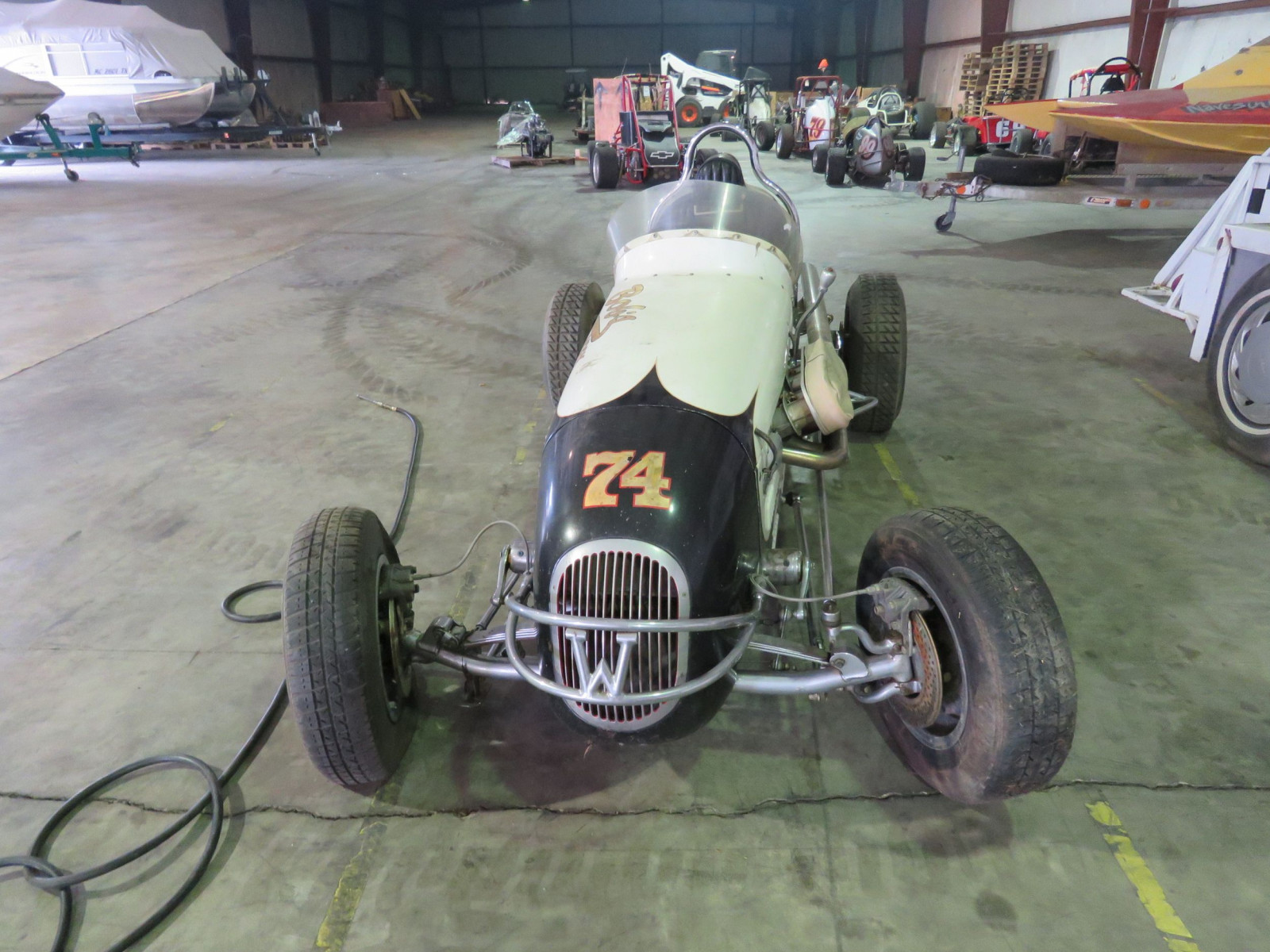 Rare 1947 Kurtis Kraft-Chimnery Midget Racecar and Trailer - Image 3