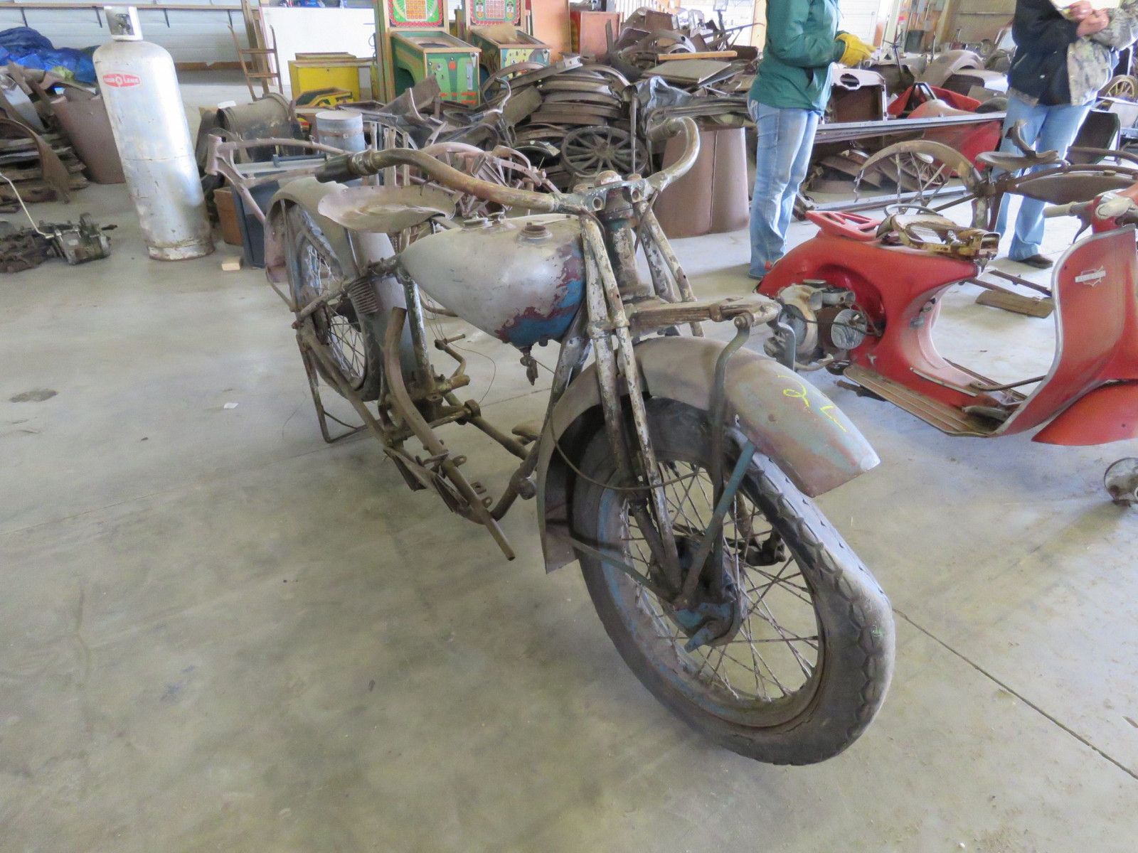 RARE 1929 Indian V-Twin Motorcycle - Image 11