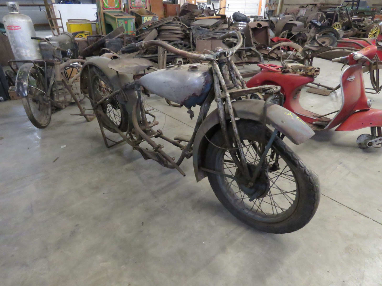 RARE 1929 Indian V-Twin Motorcycle - Image 2