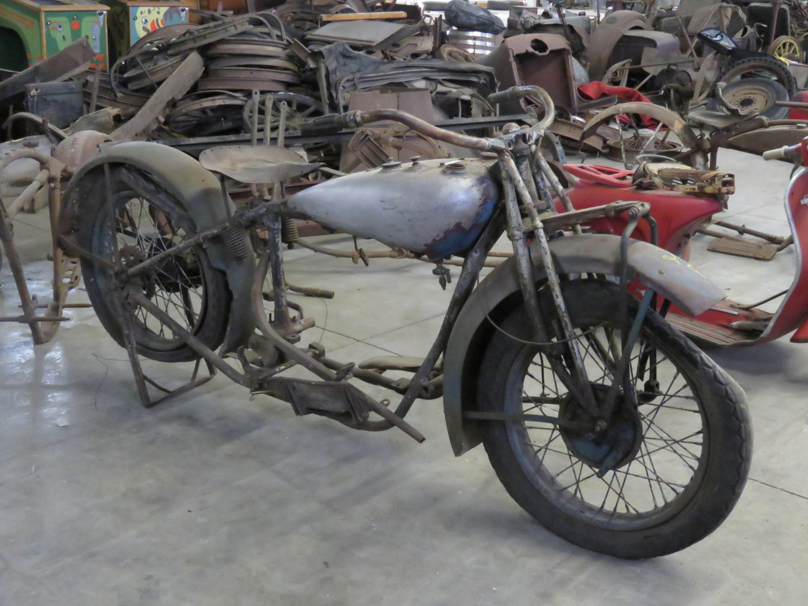 RARE 1929 Indian V-Twin Motorcycle - Image 5
