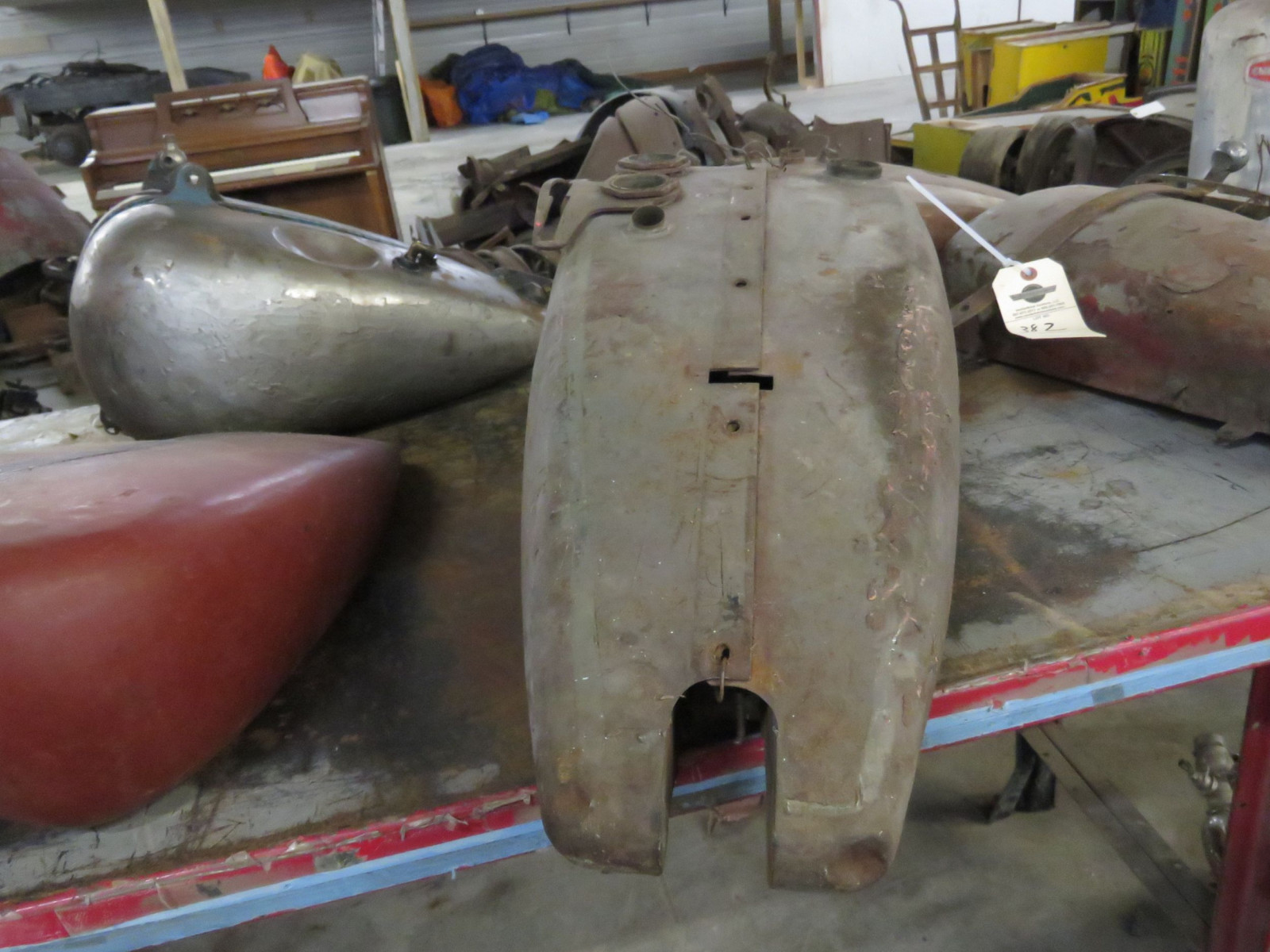 Early Harley Davidson Motorcycle Tank - Image 3