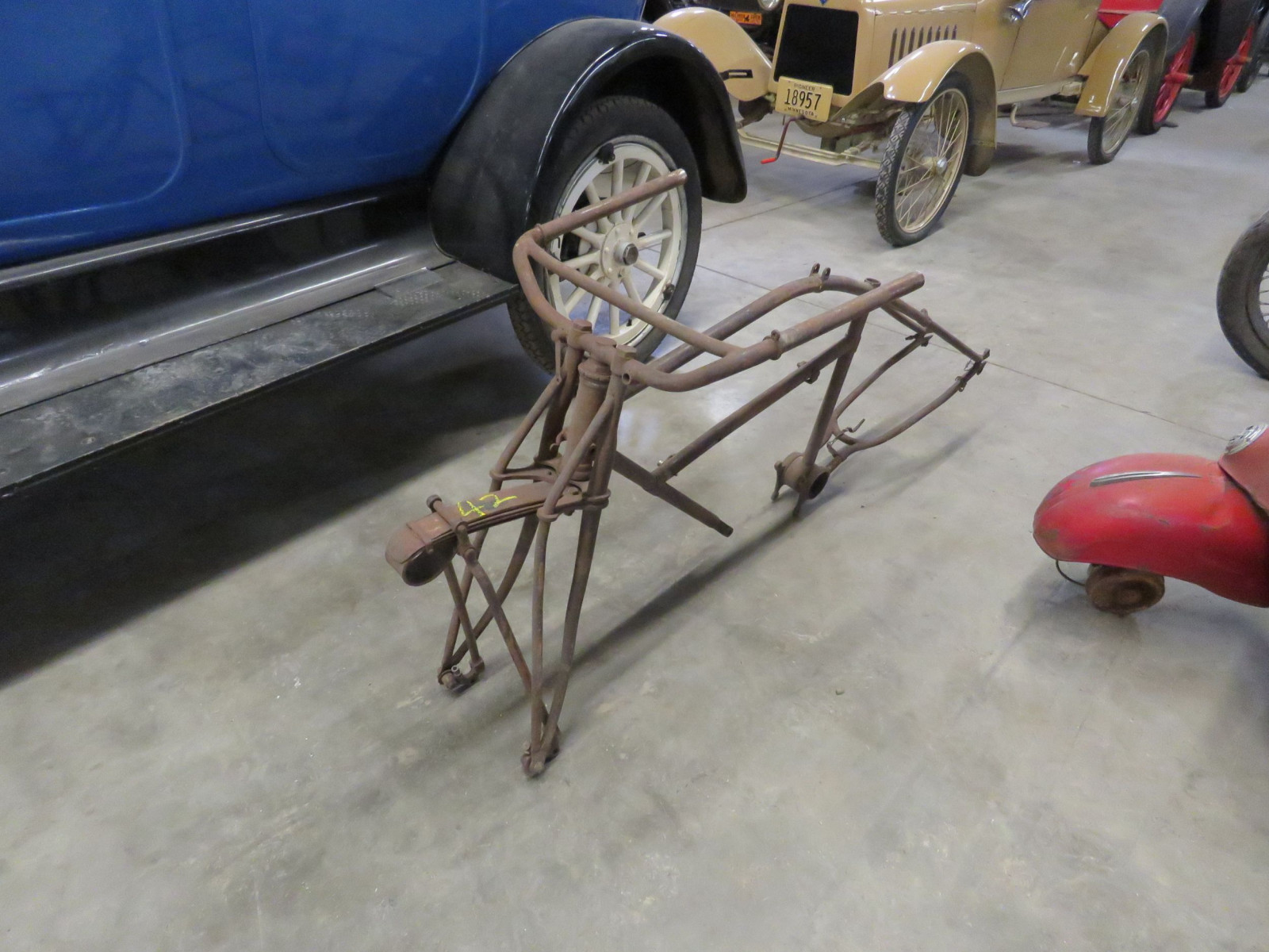 RARE Early Excelsior Motorcycle Frame - Image 1