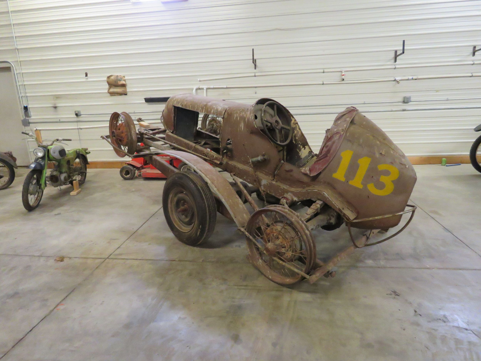 Classic Cars For Sale Mn >> Lot 58Z – Vintage Midget Race Car and Trailer ...