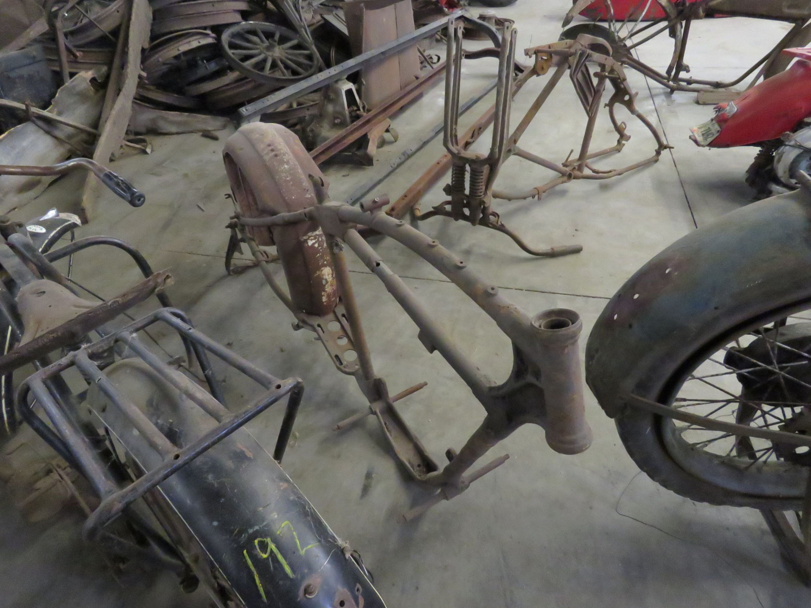 RARE Early Harley Davidson Motorcycle Frame - Image 2