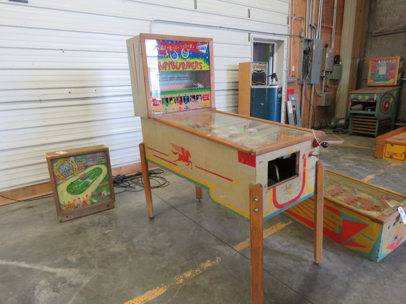 Hay Burners Vintage Horse Racing Pinball Machine - Image 1