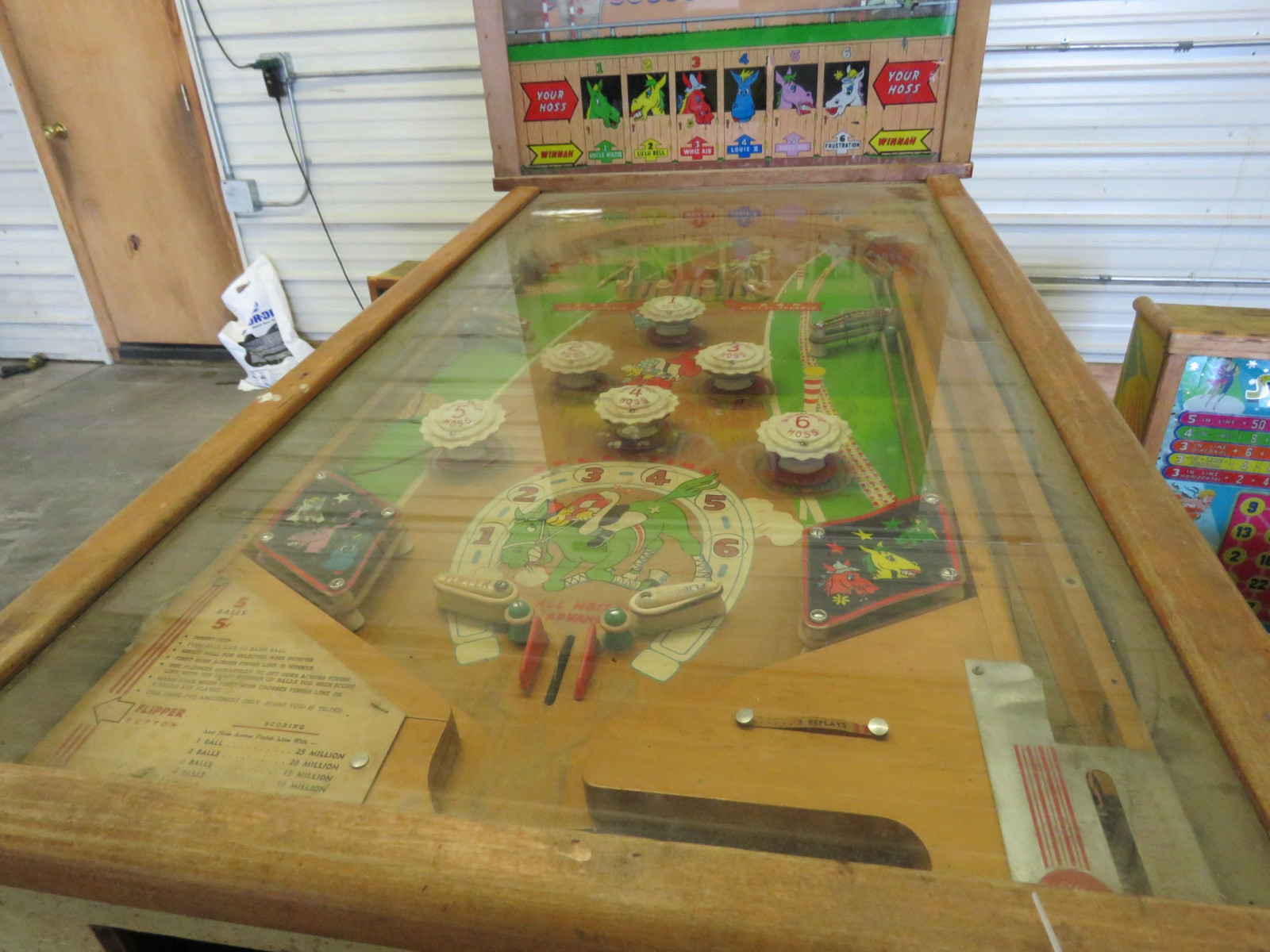 Hay Burners Vintage Horse Racing Pinball Machine - Image 3