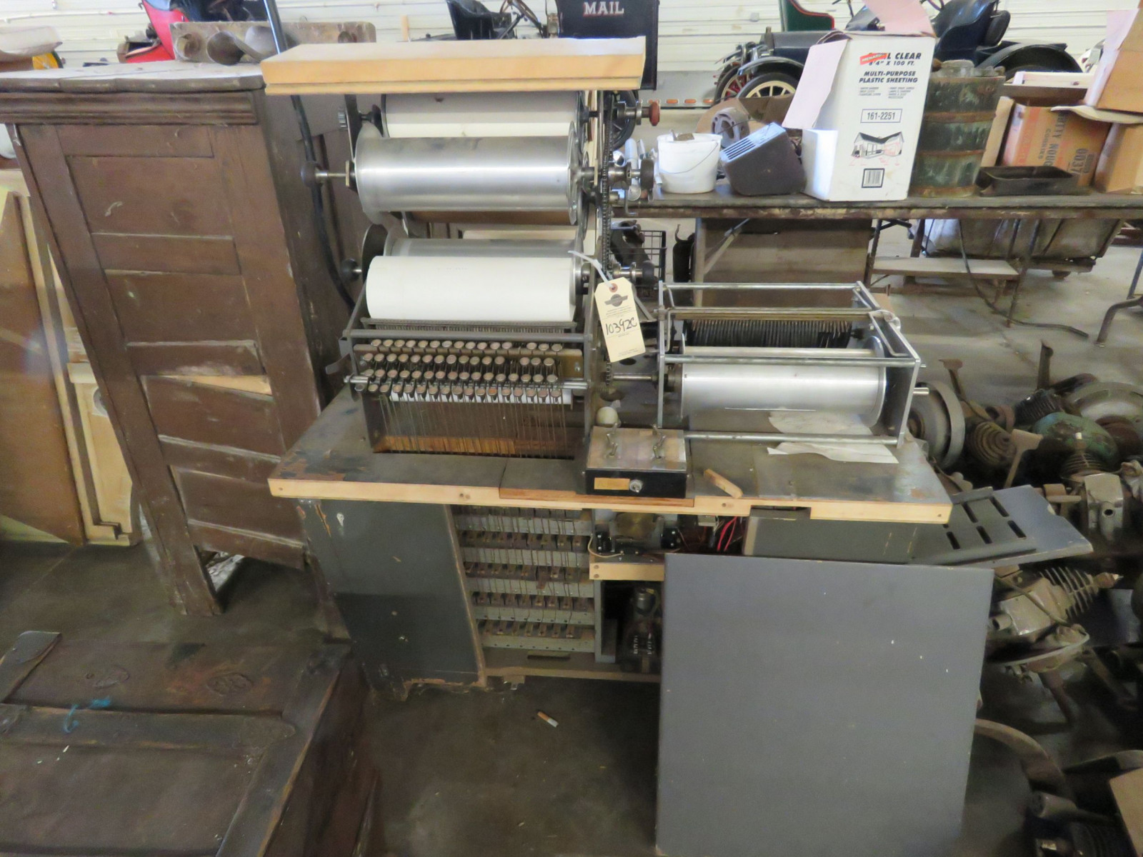 Vintage Roll Perforator Musicla Roll Making Machine - Image 2