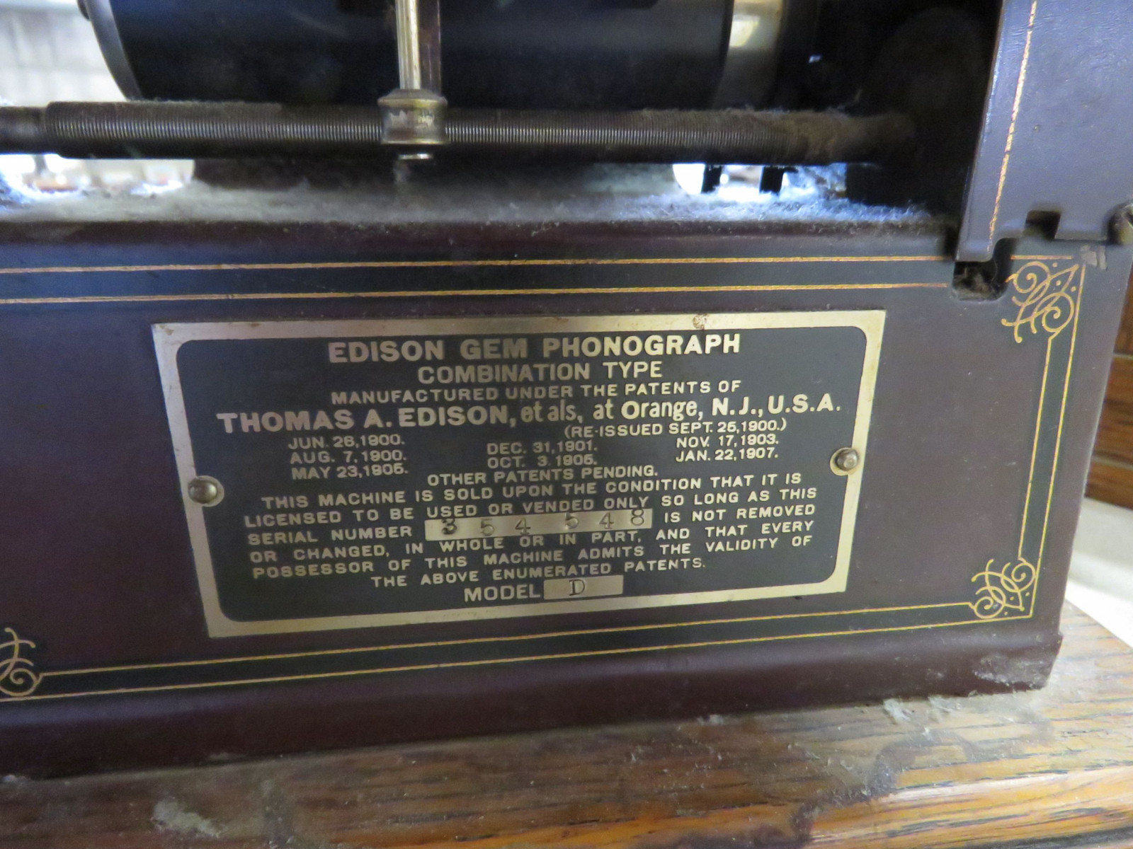 Vintage Edison Gem Combination Phonograph - Image 4