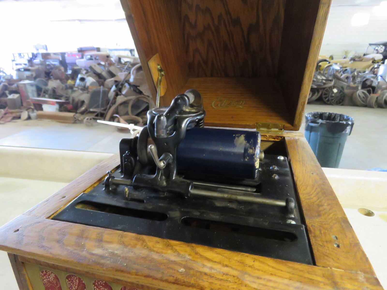Vintage Edison Gem Combination Phonograph - Image 3