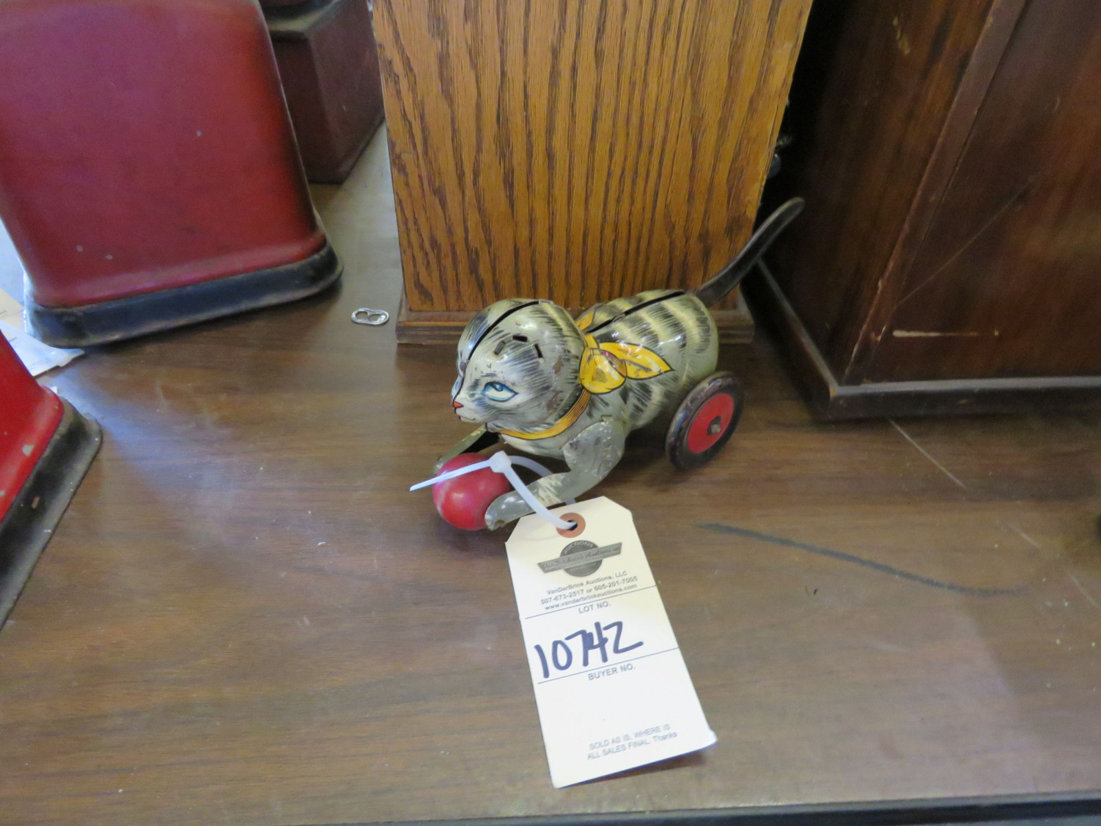 Vintage Tin Cat Friction Toy - Image 1