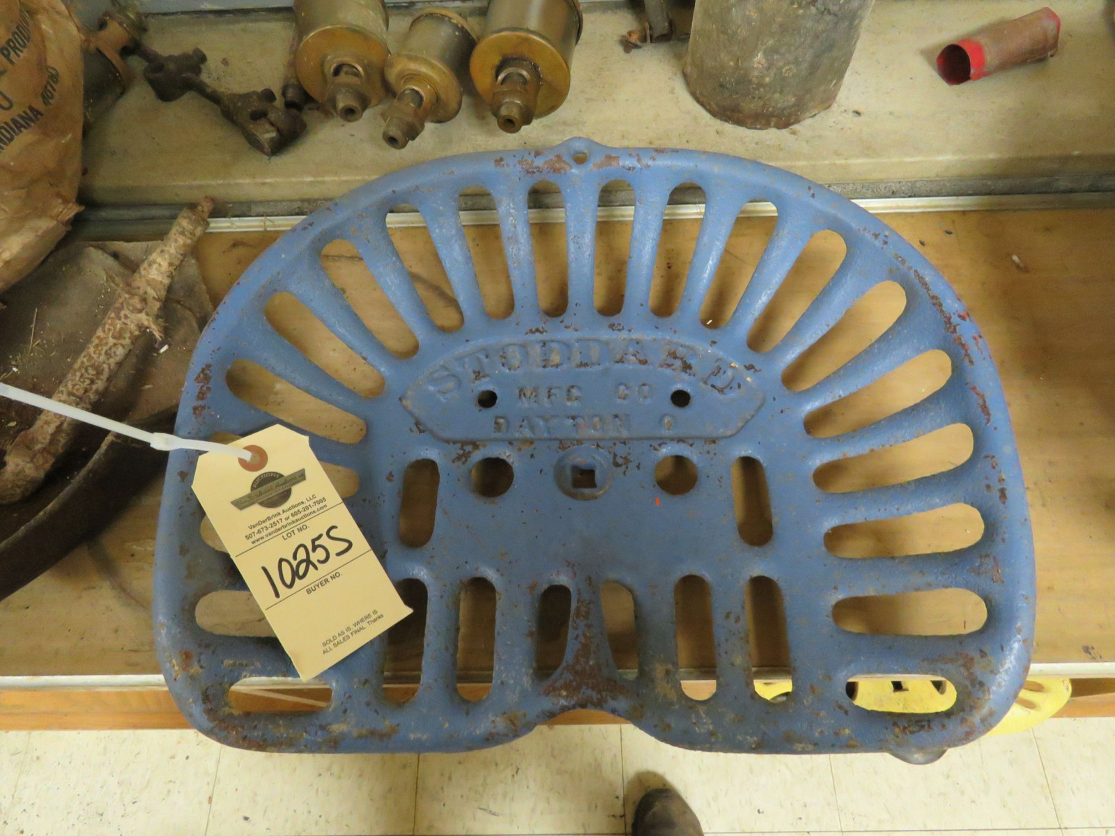 Stoddard Cast Iron Implement Seat - Image 1