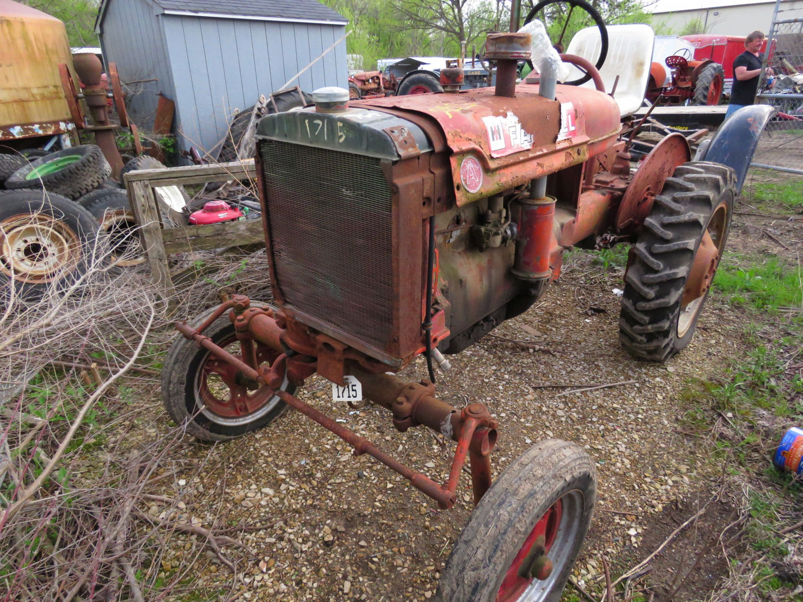 Farmall A tractor for project or parts. - Image 1